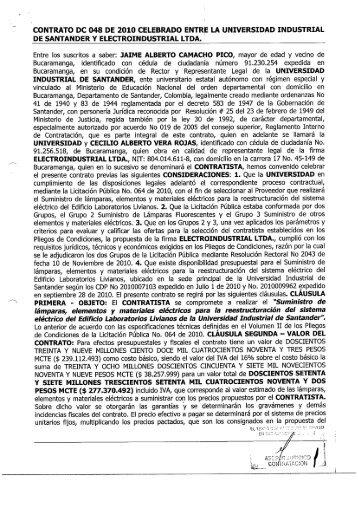 contrato dc 048 de 2010 celebrado entre la universidad industrial de ...