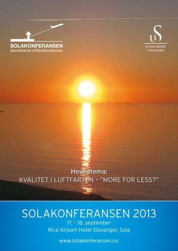 Sjå heile programmet her - Universitetet i Stavanger