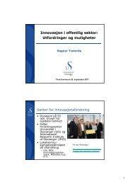 Innovasjon i offentlig sektor: Utfordringer og muligheter