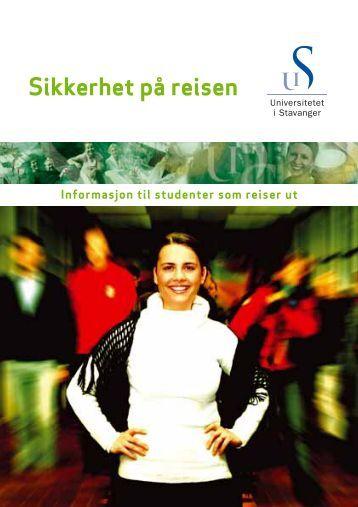 Sikkerhet på reisen - Universitetet i Stavanger