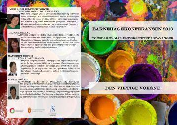 Program - Universitetet i Stavanger