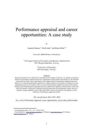 Case study on performance appraisal with solution