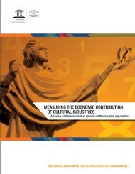 Measuring the economic contribution of cultural industries