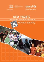 gender equality; Asia-Pacific end of decade notes on Education for ...