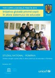 TOŢI COPIII LA ŞCOALĂ PÂNĂ ÎN 2015 Iniţiativa globală privind ...