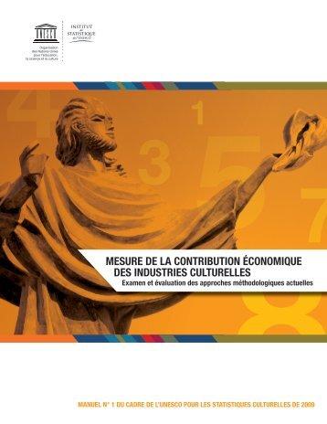 Mesure de la contribution économique des industries culturelles