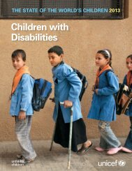State of the World's Children 2013 - Unicef