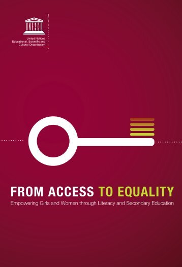From access to equality - Institut de statistique de l'Unesco