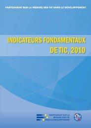Indicateurs fondamentaux de TIC, 2010 - Institut de statistique de l ...