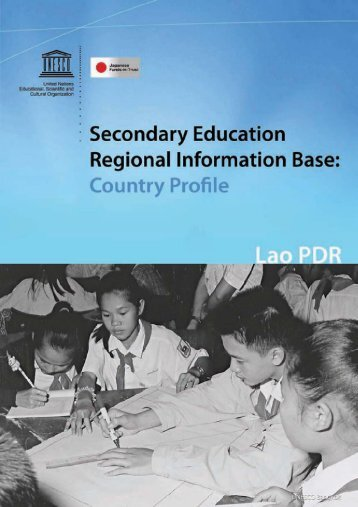 Secondary education regional information base: country profile; Lao ...