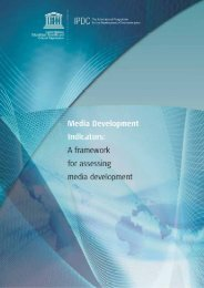 Media development indicators - Institut de statistique de l'Unesco