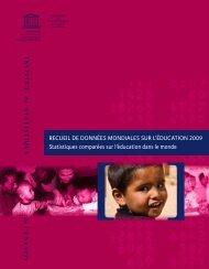 Recueil de données mondiales sur l'éducation 2009 - Institut de ...