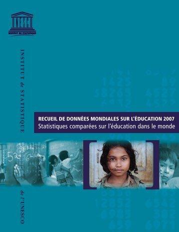 Statistiques comparées sur l'éducation dans le monde - Institut de ...
