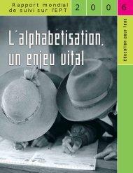 rapport mondial de suivi sur l'EPT, 2006 - Institut de statistique de l ...