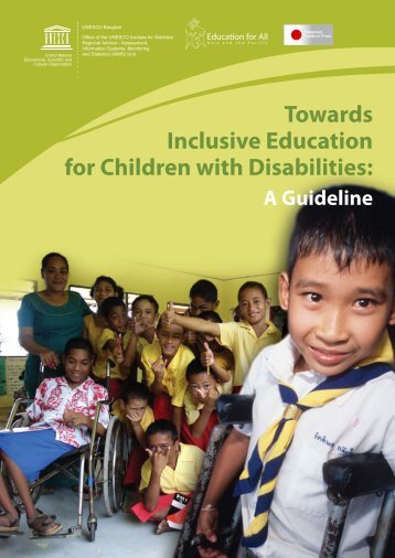 Towards Inclusive Education for Children with Disabilities: A Guideline