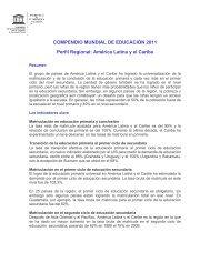 COMPENDIO MUNDIAL DE EDUCACIÓN 2011 Perfil Regional ...