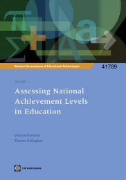 Assessing National Achievement Levels in Education - Institut de ...