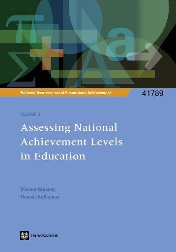 Assessing National Achievement Levels in Education - Institut de ...