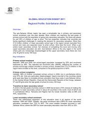 GLOBAL EDUCATION DIGEST 2011 Regional Profile - Institut de ...
