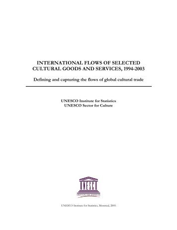 International Flows of Selected Goods and Services - ACPCultures
