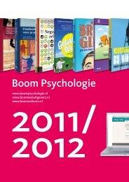 Catalogus Boom Psychologie 2011/2012 - Uitgeverij Boom