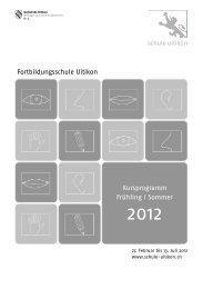 Kursprogramm Frühling / Sommer 2012