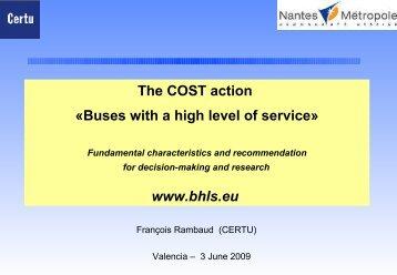 Le concept de « Bus à Haut Niveau de Service - BHLS - HOME