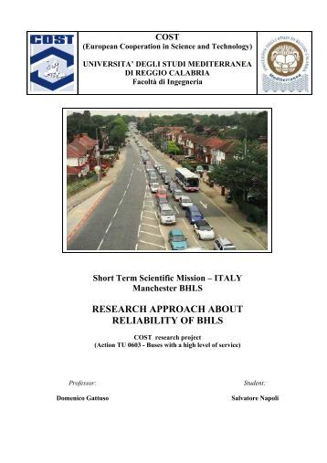 RESEARCH APPROACH ABOUT RELIABILITY OF ... - BHLS - HOME