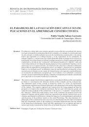 el paradigma de la evaluación educativa y sus - Universidad de Jaén