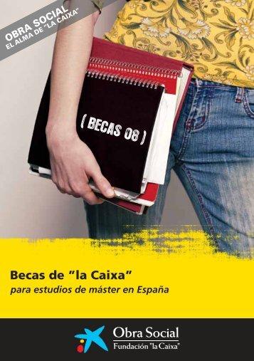 """Becas de """"la Caixa"""" - IOBA"""