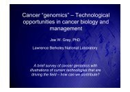 """Cancer """"genomics"""" – Technological opportunities in cancer biology ..."""