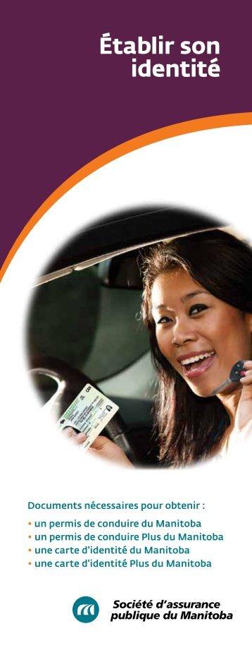 Établir son identité - Manitoba Public Insurance