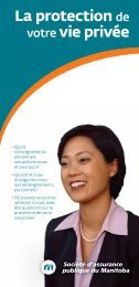 La protection de votre vie privée - Manitoba Public Insurance