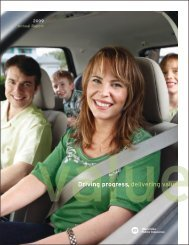 Driving progress, delivering value - Manitoba Public Insurance
