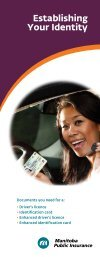 Establishing your identity - Manitoba Public Insurance
