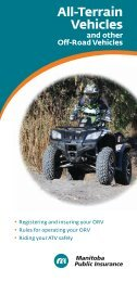 Off-Road Vehicles - Manitoba Public Insurance