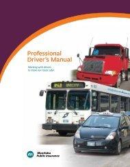 Professional Driver's Manual - Manitoba Public Insurance