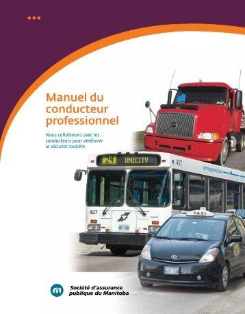 Manuel du conducteur professionnel - Manitoba Public Insurance