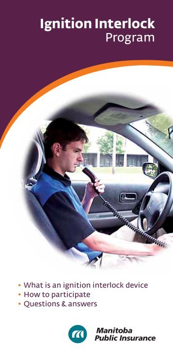 Ignition Interlock - Manitoba Public Insurance