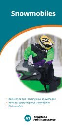 Snowmobiles - Manitoba Public Insurance