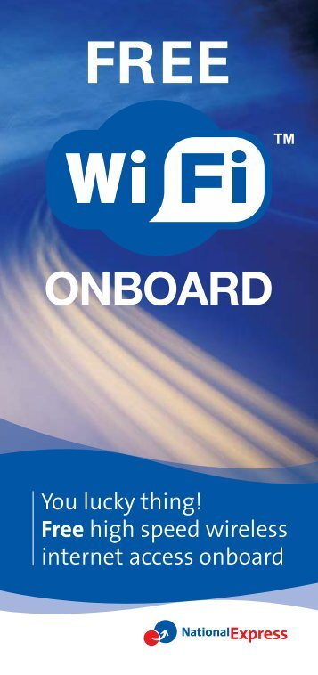 WI-FI FREE Leaflet - National Express