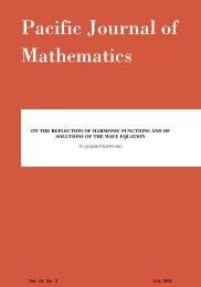 On the reflection of harmonic functions and of solutions of the ... - MSP