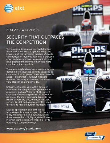 securiTy ThAT ouTpAces The compeTiTion - AT&T