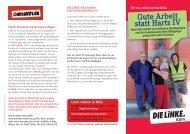 Gute Arbeit statt Hartz IV - DIE LINKE. Kreisverband Köln