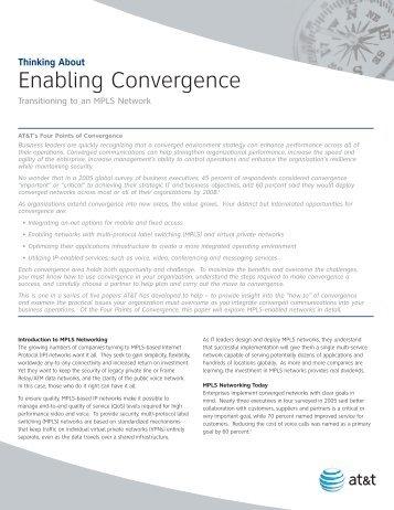 Enabling Convergence - Enterprise Business - AT&T