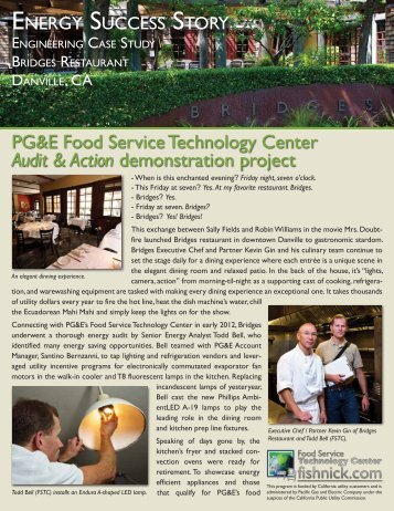 Energy Efficiency Demonstration Project - Food Service Technology ...