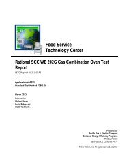 Appliance Test Report - Food Service Technology Center