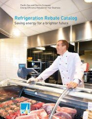 Refrigeration Rebate Catalog - Pacific Gas and Electric Company