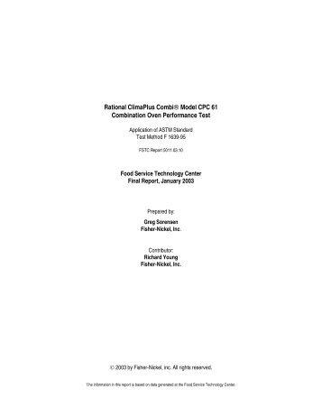 Rational ClimaPlus Combi® Model CPC 61 Combination Oven ...