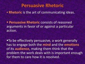importance of persuasive speech